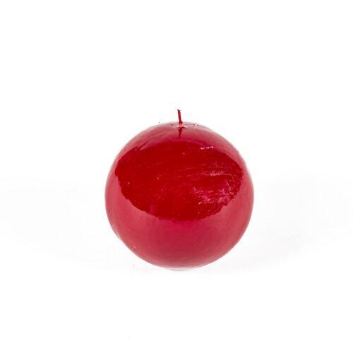 vela, roja, redonda, aroma