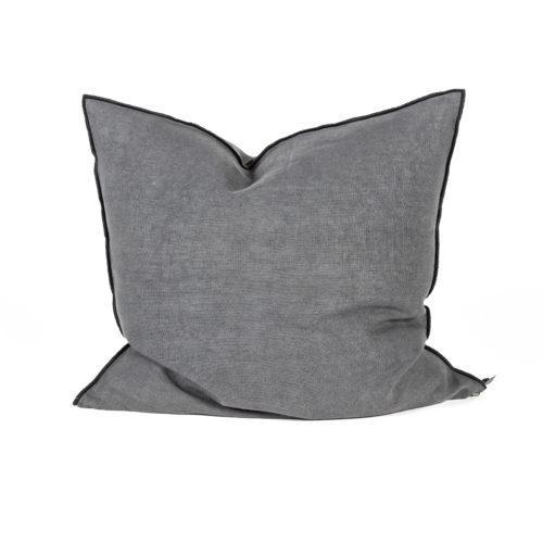 cojín, gris, plumas, cama, sofá, soft, confort, indietro