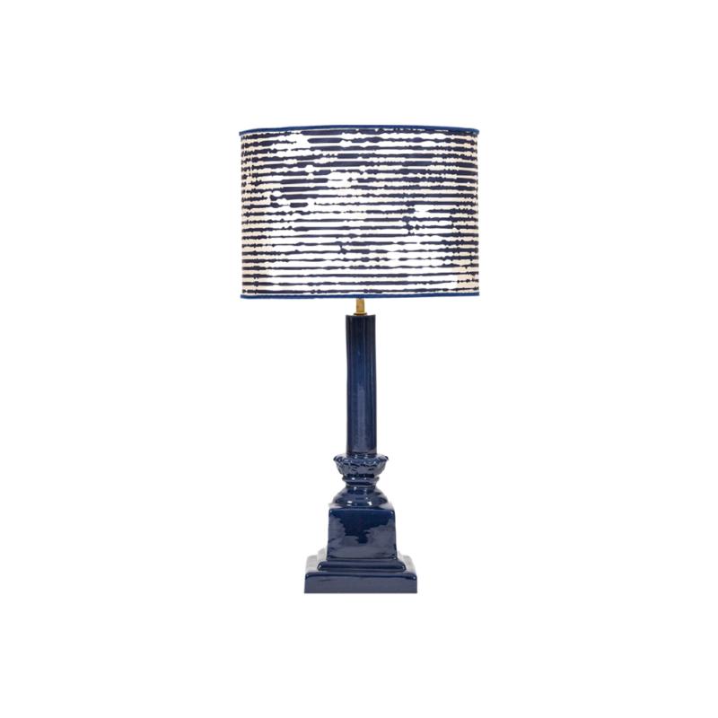 lámpara azul ,lámpara ceramica, indietro