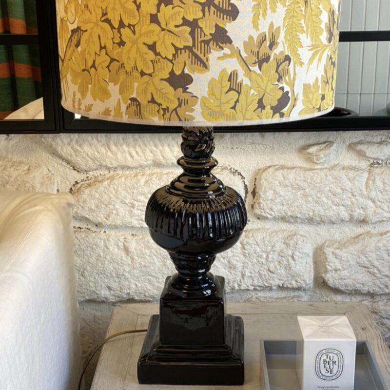 pie lámpara, indietro, lámpara cerámica negra