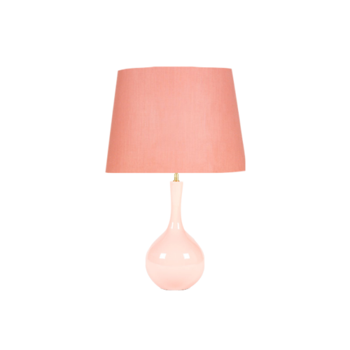 lampara rosa, lampara indietro, pie de lampara