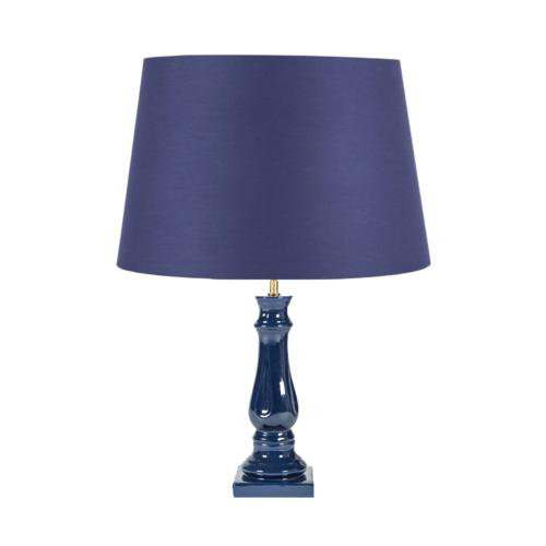 LAMPARA AZUL , LAMPARA CERAMICA, LAMPARA MESILLA, LAMPARA INDIETRO