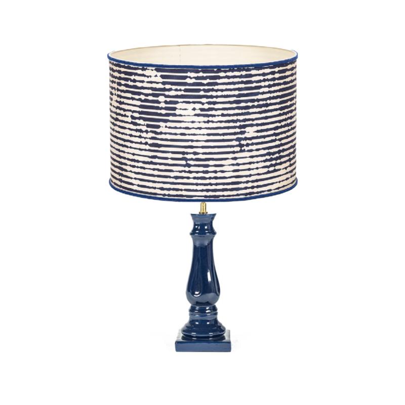 lámpara azul , lámpara ceramica, indietro