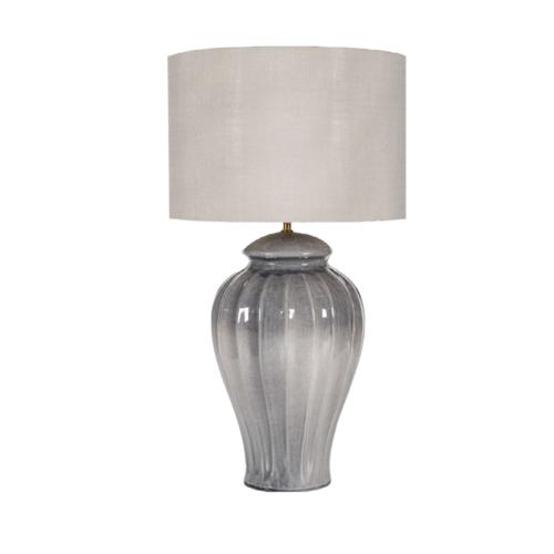 lampara gris, pie de lampara ceramica, indietro