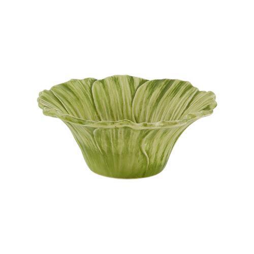 bowl verde, Bordallo Pinheiro, mesa cerâmica, indietro