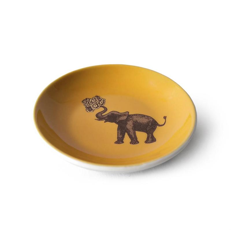 mini plato elefante, indietro, ceramica