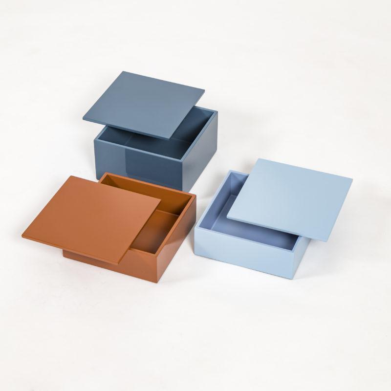 cajas laca, cajas colores, indietro