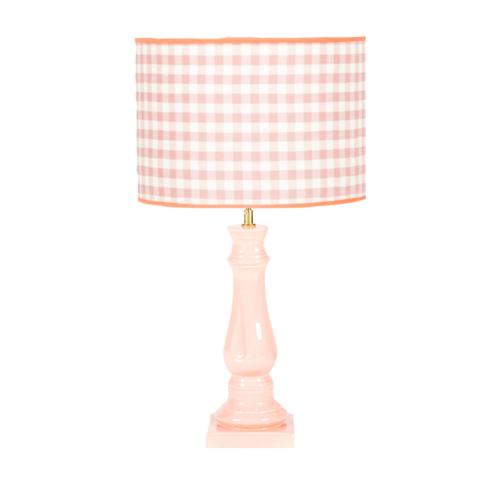 lampara rosa, lampara ceramica, lampara indietro