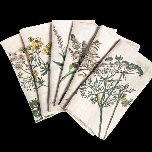 servilletas lino flores, mesas de campo