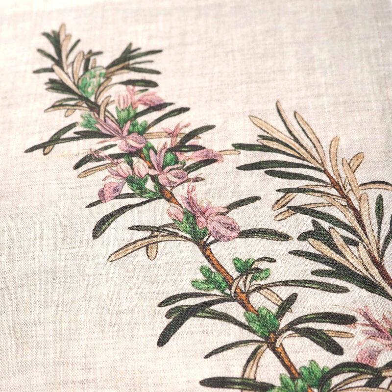 servilletas hiervas botánicas, indietro, mesas de campo