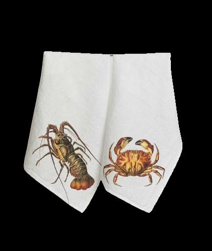 paños cocina crustáceo, indietro, mesas mariscos