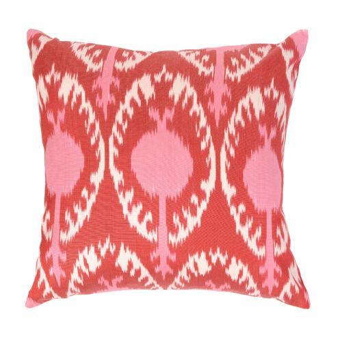 cojín, almohadones, rosa, ikat, seda, color, indietro